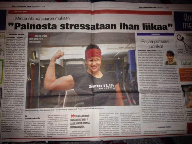 Tämä juutuhan meni oikeastaan ihan putkeen, onnistuin viestittämään ihmisille jotai hyvää. (Suur-Jyväskylän lehti nro 1 keskiviikko 1. tammikuuta. )
