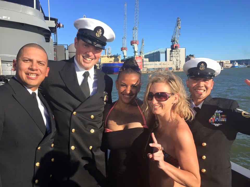 Saatiin myös vieraita Yhdysvaltain laivastosta.